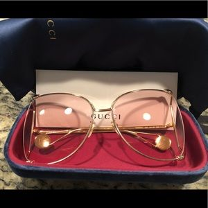 Authentic Gucci 63mm Butterfly Sunglasses